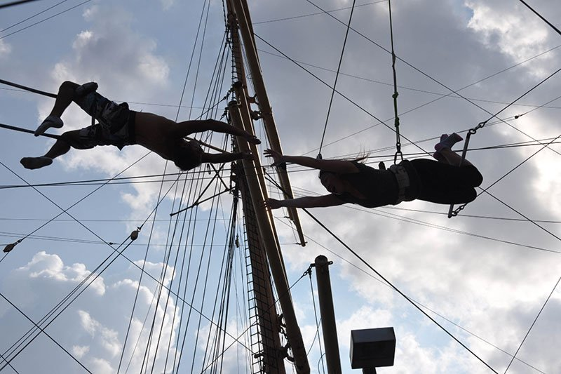 Group outing - trapeze