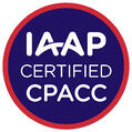 """Badge that says """"IAAP Certified CPACC"""""""