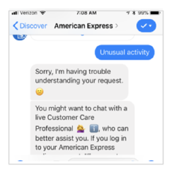 american express chatbot