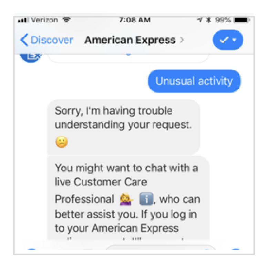 american express chatbot