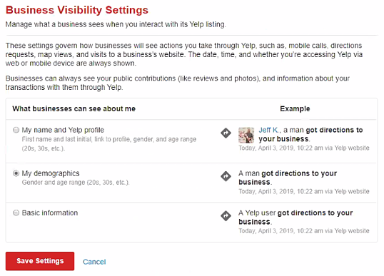 Yelp business visibility settings-1