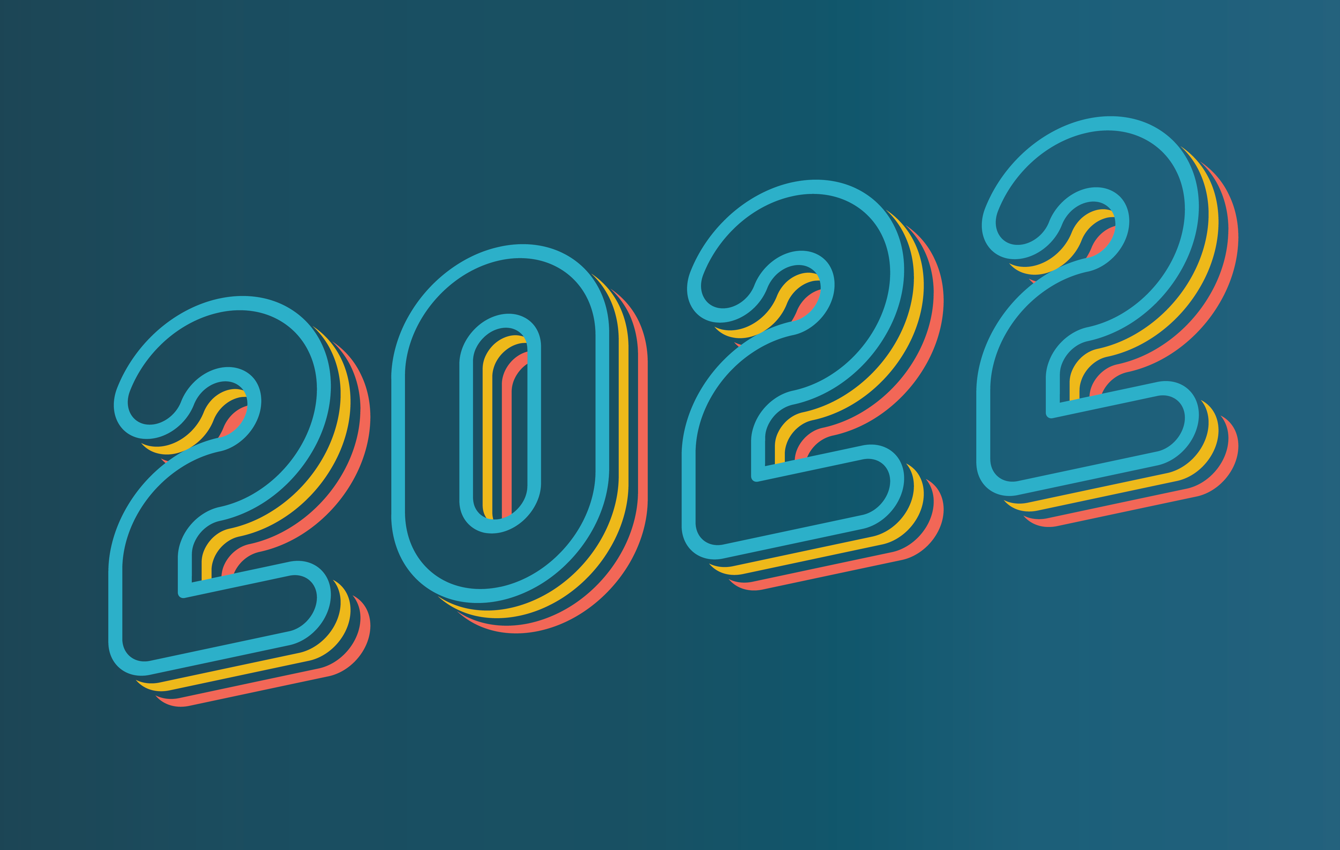 Neon 2022 against a blue background