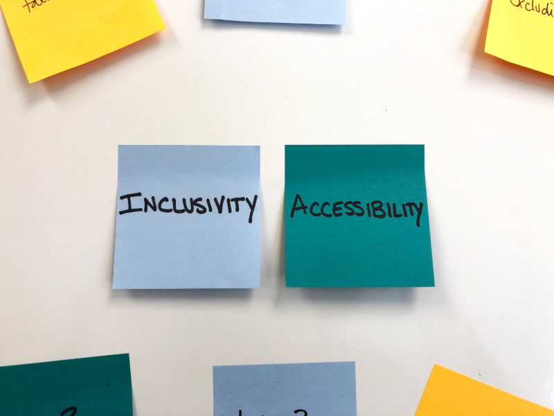 inclusivity workshop sticky notes